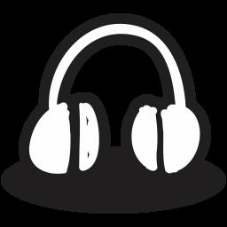 creative, handrawn, headphone, mic, multimedia, music, shape icon