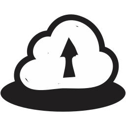 cloud, clouds, cloudy, handrawn, storm, up, upload icon