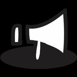 doodle, handrawn, speaker icon