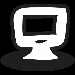 business, communication, handrawn, monitor, screen, web icon