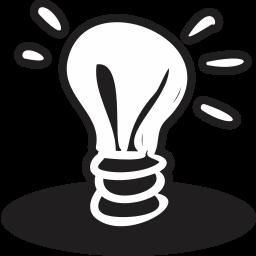 bulb, handrawn, idea, light icon