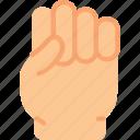 fist, gesture, hand icon