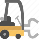 forklift, shipping, truck icon