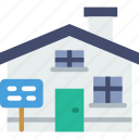 building, estate, house icon