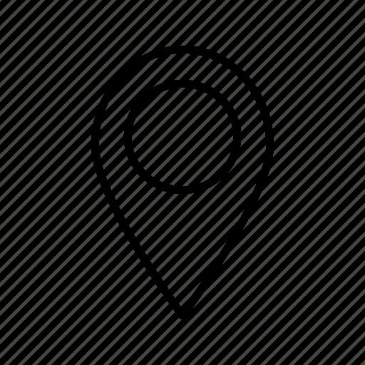 address, gps, location, mark, marker, navigation, outline, pin, pop, street icon icon