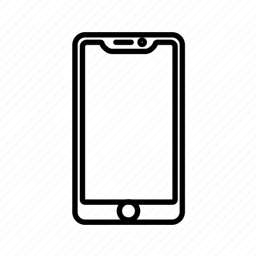 android, communication, device, gadget, outline, phone, technology icon