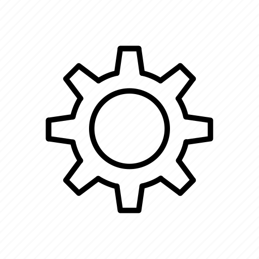 configuration, gear, gears, outline, preference, setting icon