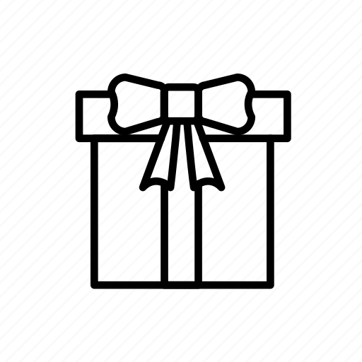 anniversary, birthday, box, celebration, gift, gift box, offer, outline, package, present, surprise icon