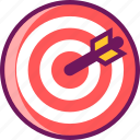 aim, archery, focus, goal, success, target icon