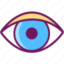 eye, eyeball, look, search, spy, vision icon