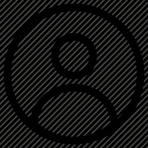 account, avatar, people, person, profile, user icon