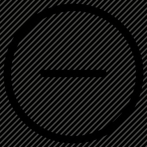 cancel, delete, minus, remove icon