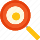 breakfast, egg, fried, pan, winter icon
