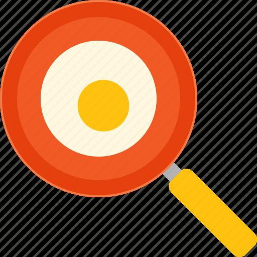 breakfast, egg, fried, pan, winter icon