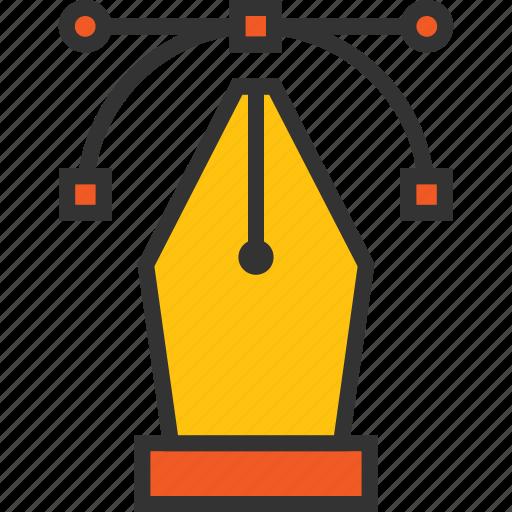 anchor, illustrator, path, pen, tool, vectorize icon