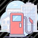 fuel, gas, petrol, station, supply icon