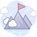 leader, mountains, winner icon