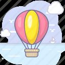 cloud, fireball, sea, tourism icon