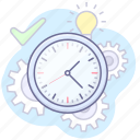 clock, loading, processing, time icon
