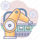 artificial intelligence, automation, machine icon