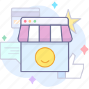 experience, rate, shopping icon