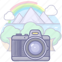 camera, shot, travel icon