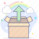 cloud, release, storage, upload icon