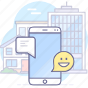 chats, chatting, message, mobile icon