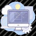 code, computer, development icon