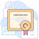 agreement, certificate, license icon