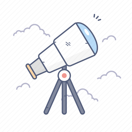 astronomy, discover, science, telescope icon