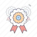 action, award, badge, ribbon icon