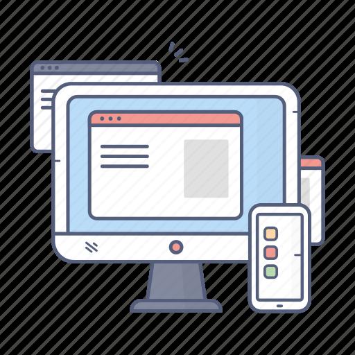 computer, devices, seo, smartphone, web icon