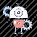 bot, droid, gears, robot