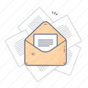 communication, email, file, letter, message icon