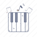media, music, note, piano, sound icon