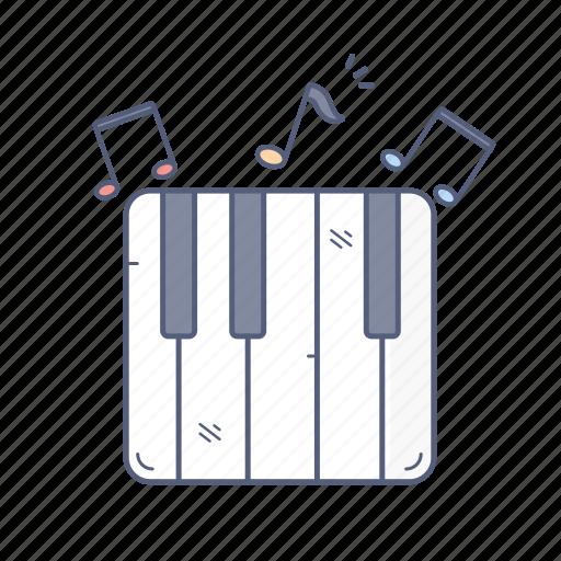 media, music, note, piano, sound icon