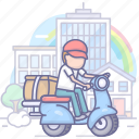delivery, moto, shipping, takeaway icon