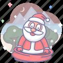 christmas, holiday, saint icon