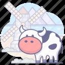 cattle, cow, farm, pasture icon