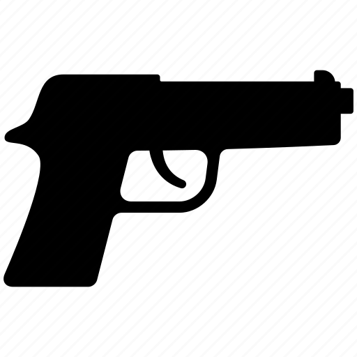 crime, gun, pistol, police, weapon icon