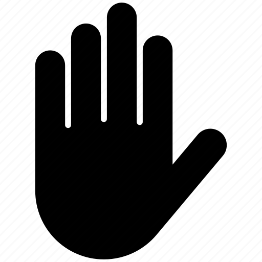 Hand, touch, finger, gesture icon