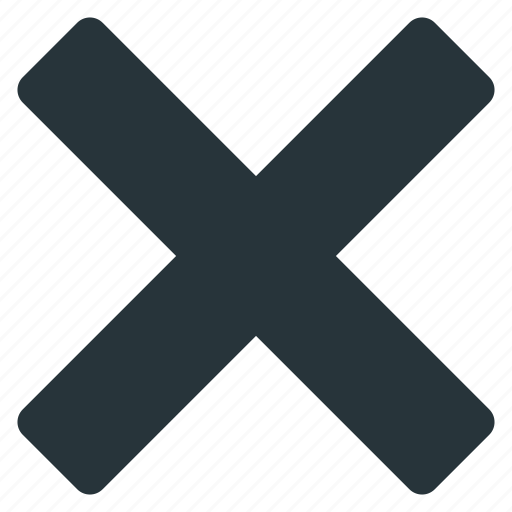 close, cross, exit, mixed, stop icon
