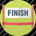 athlete, business, end, entrepreneur, finish, finish line, goal, race, racing, sports, success, win, winner icon