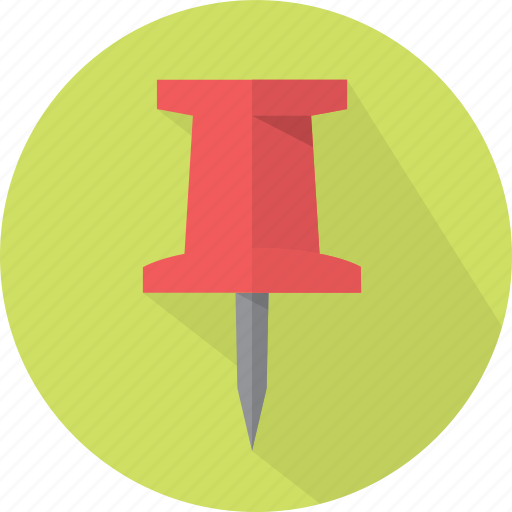 arrow, arrows, direction, fasten, fix, gps, hold, location, map, marker, navigation, paper, pentrate, pin, pointer, tack, thumb icon
