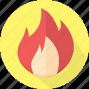 caution, cautious, crucial, danger, dangerous, fire, flamable, flame, heat, hot, important, light, stop, urgent, vital icon