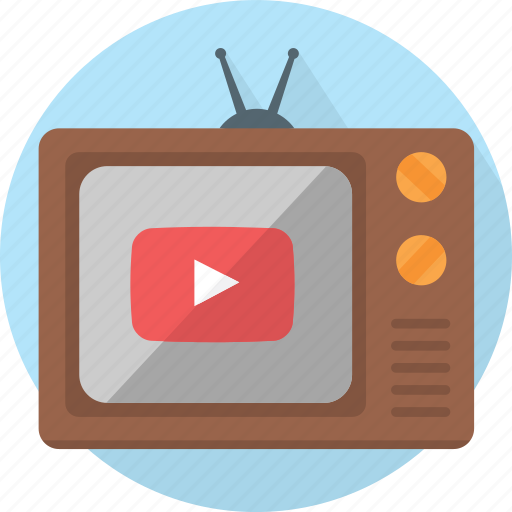 aerial, footage, old school, online, play, recording, social media, television, traditional, tv, video, visual, youtube icon