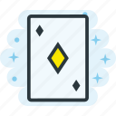 ace, card, diamonds, of, poker icon