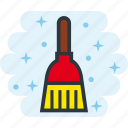 broom, broomstick, clean, cleaning, dust icon