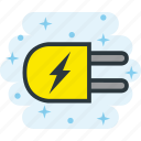 electric, electricity, energy, plug icon